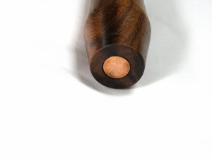 Mace foot with penny